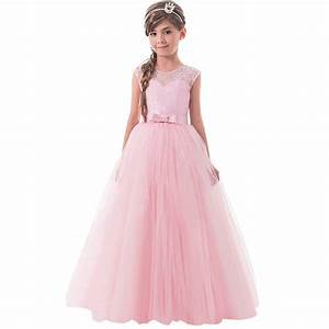 summer kids girls lace clothes teenager girl princess With wedding dress costume for girls