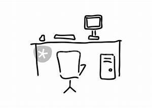 Schreibtisch Mit Stuhl : schreibtisch mit computer pc tastatur maus stuhl grafik ~ A.2002-acura-tl-radio.info Haus und Dekorationen