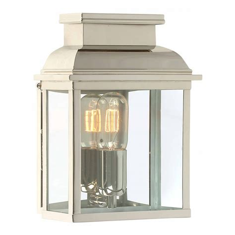 silver nickel garden wall lantern to suit regency and