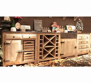 cuisine pin massif 3957 With charming meuble sous evier bois massif 16 cuisea cuisines cuisea
