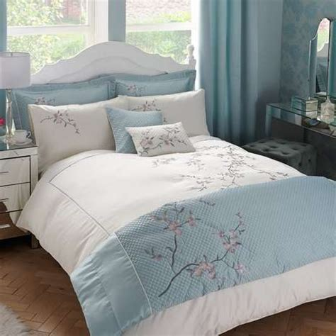 Misaki Duck Egg Bed Linen Collection Dunelm