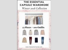 The Essential Capsule Wardrobe Winter 2018 Collection