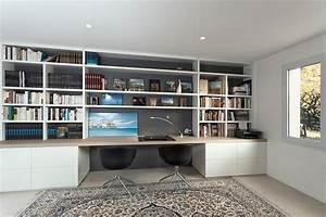 Bureau Plan De Travail : bureau agencement plan de travail oberflex ch ne de fil meubles bas et biblioth que mdf ~ Preciouscoupons.com Idées de Décoration