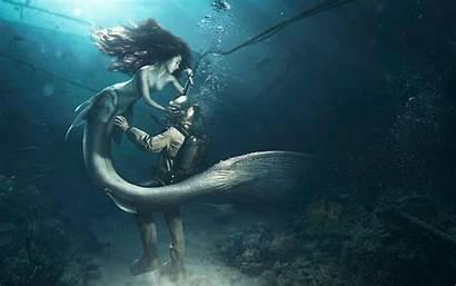 Mermaid Diver 4k Wallpapers Divers Resolution Creative
