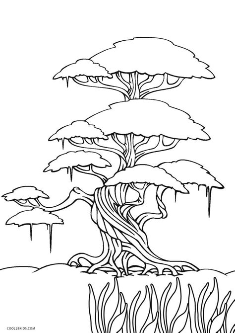 coloring sheets free printable tree coloring pages for cool2bkids