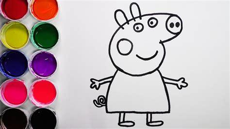Dibuja y Colorea Peppa Pig de Arco Iris Dibujos Para