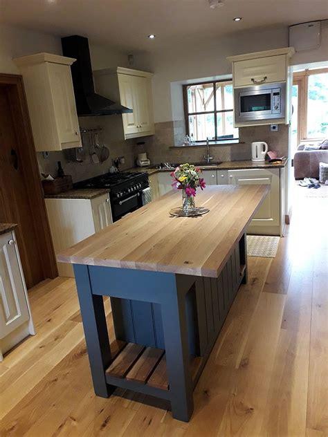medium freestanding kitchen island hand painted  farrow