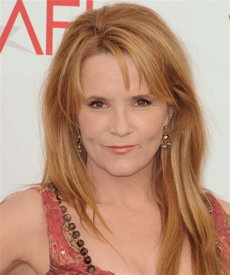 Lea Thompson Long Straight Casual Hairstyle with Side