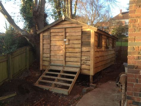 waney edged shed  wooden workshop oakford devon