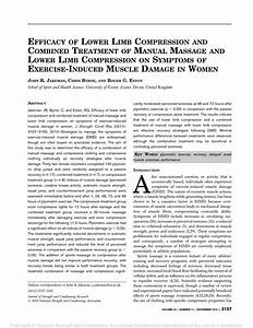 Pdf  Efficacy Of Lower Limb Compression And Combined