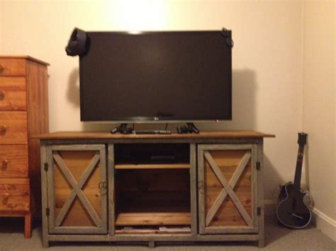 farmhouse tv console table ana white farmhouse tv stand diy projects