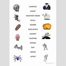 18 Free Esl Halloween Vocabulary Worksheets