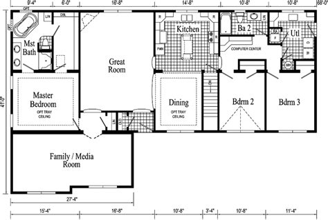 Fischer Homes Floor Plans by Quincy Ii Ranch Style Modular Home Pennwest Homes Model