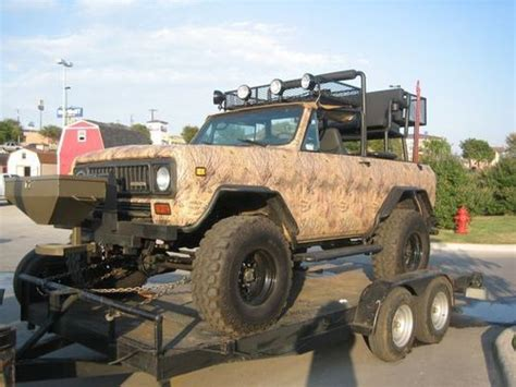 hunting jeep for sale sell used hunting truck jeep international scout ii fully