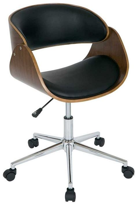 buy walnut and black height adjustable computer chair from