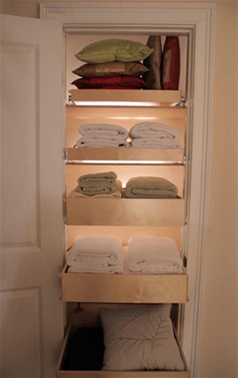pull out linen closet shelves closet organizers other