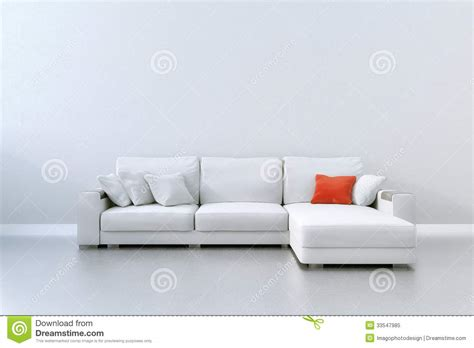 red and white sofa red cushion royalty free stock photo image 33547985