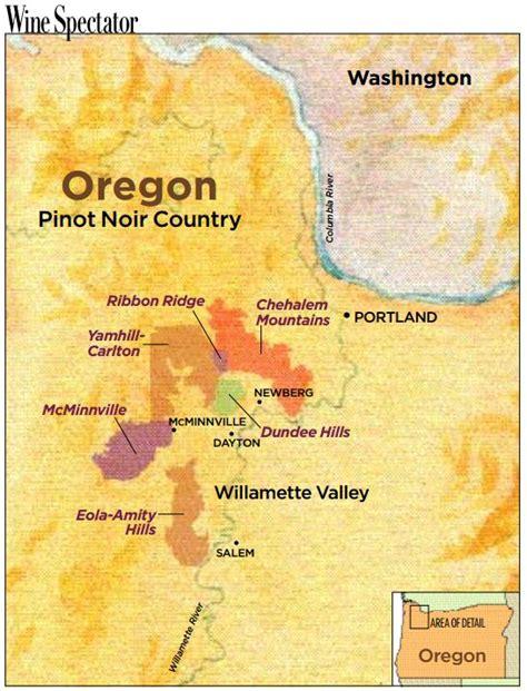 willamette valley wine towns oregon country key region map maps pinot washington camp portland club uploaded user