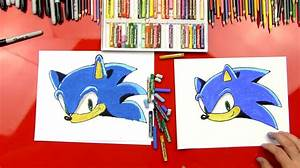 How To Draw Sonic The Hedgehog Art For Kids Hub