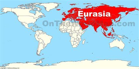 eurasia location   world map