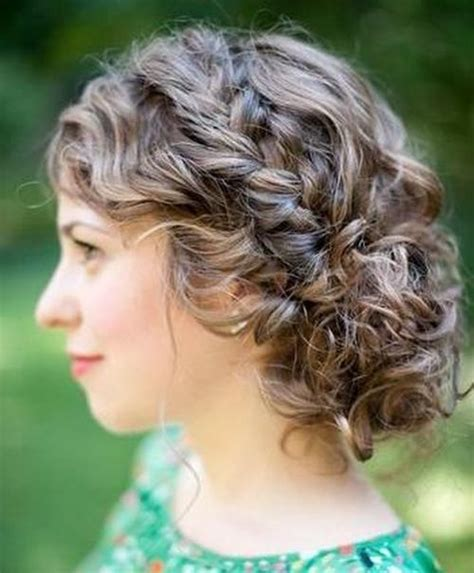 Curly Updo Hairstyle by 25 Inspirational Medium Curly Hairstyles For Every Day