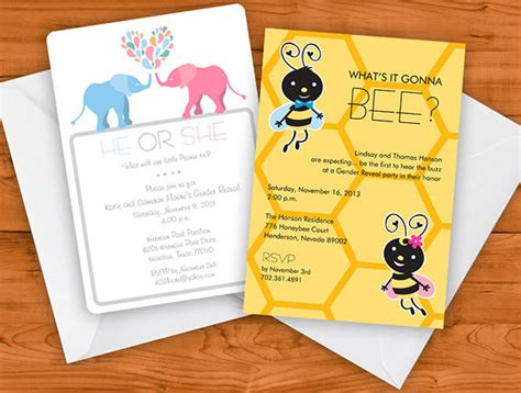 gender reveal party invitations psd png vector eps