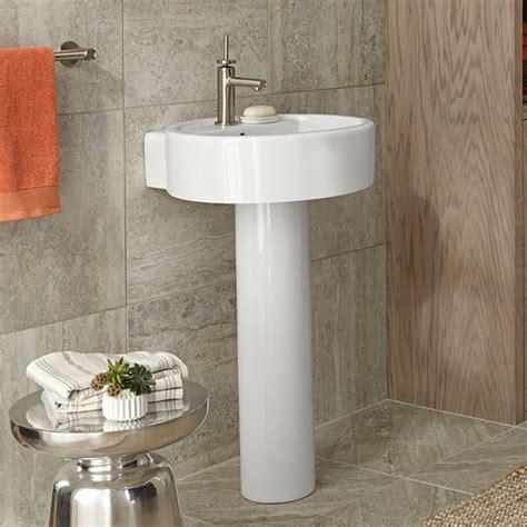 18 inch pedestal sink pedestal sink seagram 20 inch round pedestal lavatory by dxv