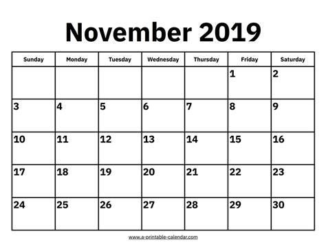 editable november  printable calendar word