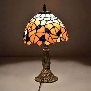 8 inch tiffany table lamp country style maple leaves for 6 inch table lamp
