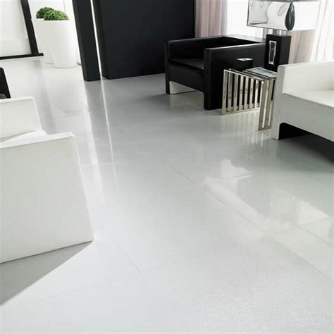 Large White Floor Tiles In Beautiful Glazed Porcelain