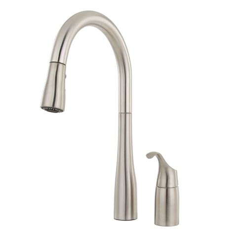 single kitchen faucet with sprayer standard quince single handle pull sprayer