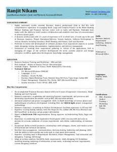 sle resume for a business analyst position business analyst resume