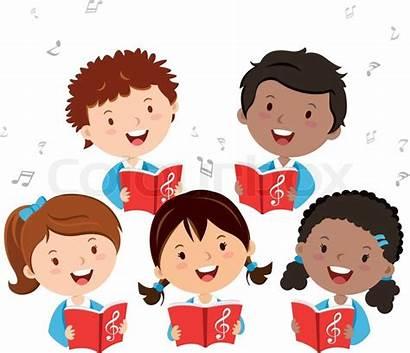 Choir Children Clipart Singing Childrens Cartoon Graphic