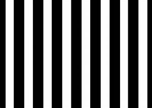 Decorate using black and white stripes