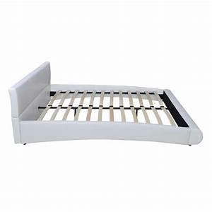 Tete De Lit Led : acheter lit en similicuir avec t te de lit led 140 200 cm blanc pas cher ~ Teatrodelosmanantiales.com Idées de Décoration