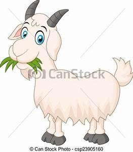 漫画, goat, 食べること, 草 - ベクトル,... csp23905160のクリップアートベクター ...