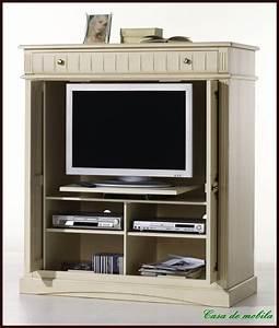 Massivholz TV SCHRANK Fernsehschrank Phonoschrank Holz