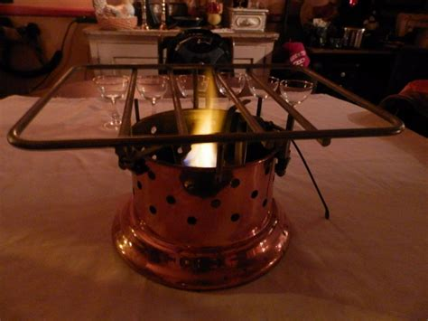 vtg copper spring alcohol portable camp stove   switzerland xx