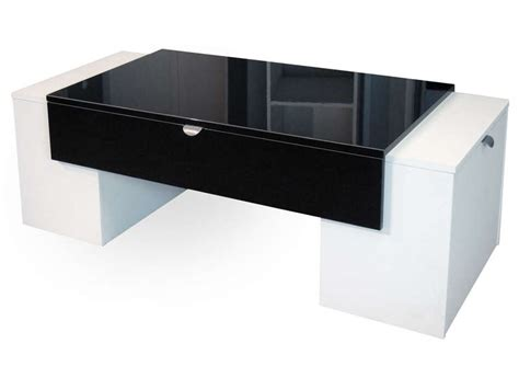 table basse lucky tcoloris noir blanc conforama