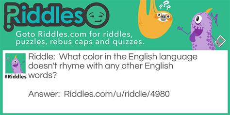 color riddles the non rhyming color riddles