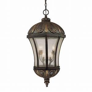 Illumine 8-Light Outdoor Hanging Old Tuscan Lantern with