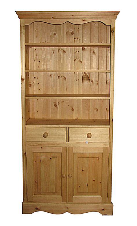 bookcase with drawers with adjustable shelves and doors kerris farmhouse pine