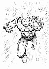 Pages Man Iron Coloring Printable sketch template