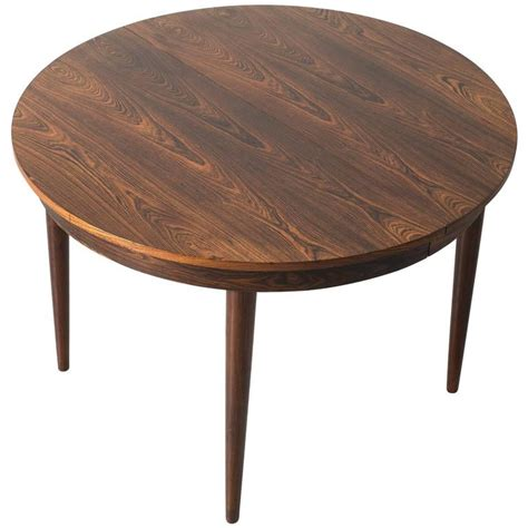 round tables with leaf extensions round hans olsen rosewood dining table with extension leaf
