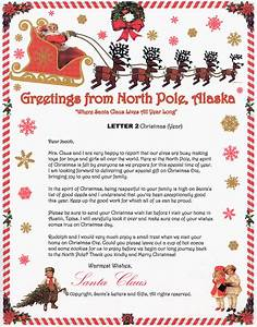 Santa letters new calendar template site for Letter from santa with gift