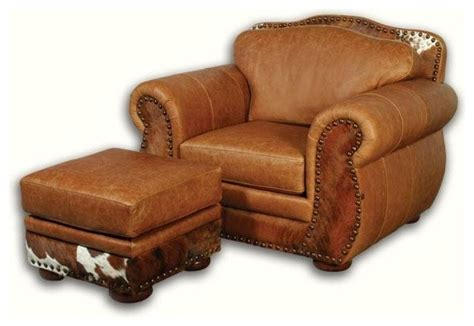 Southwestern Sofas by Western Leather Chair With Hair On Hide Southwestern