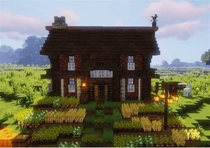 Minecraft Farmhouse Casa Houses Nice Wheat Cottagecore