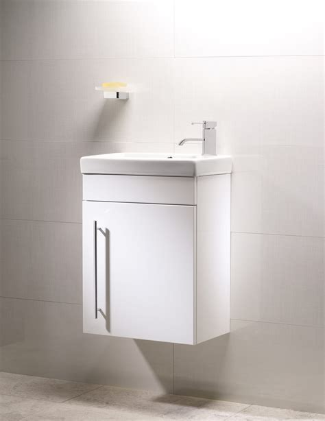 Roper Vanity Unit by Roper Esta 460mm White Wall Mounted Vanity Unit And