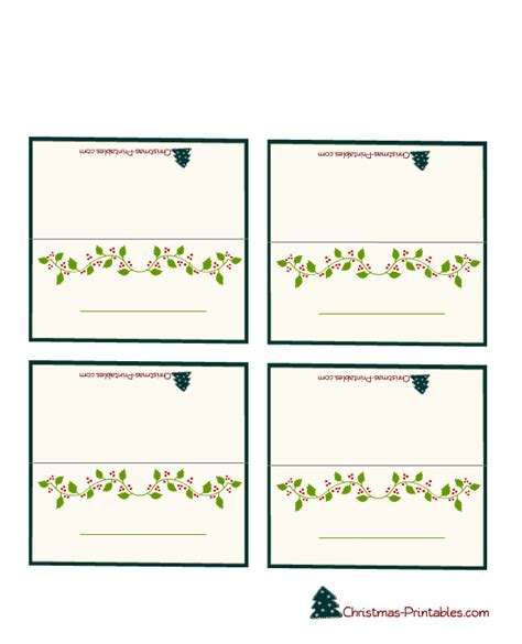 free printable christmas table place cards template free printable christmas place cards search results