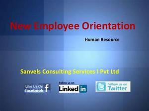 new employee orientation for a company human resource ppt With new employee orientation template powerpoint